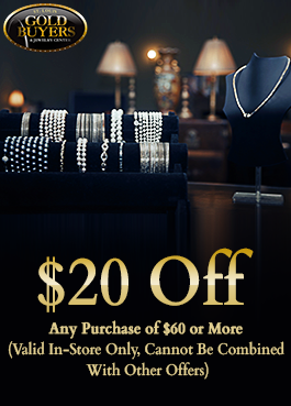Any Purchase of $60 or More at our St. Louis Jewelry Store in St. Ann, MO (Valid In-Store Only, Cannot Be Combined With Other Offers)