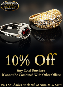 10% Off - Any Total Purchase at our St. Louis Jewelry Store in St. Ann, MO (Cannot Be Combined With Other Offers)